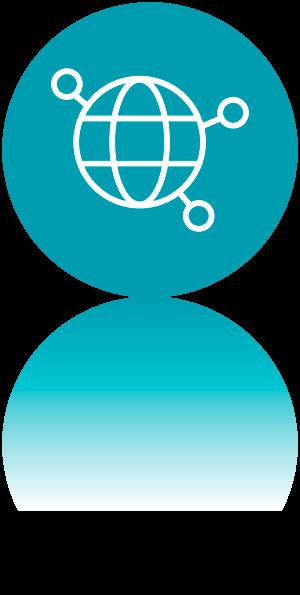 Icono big data UX. DAM. Desarrollo aplicaciones multiplataforma