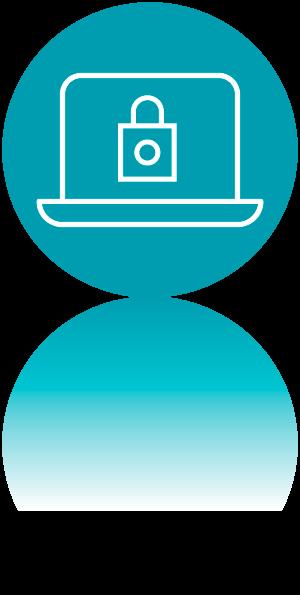 Icono ciberseguridad UX. DAM. Desarrollo aplicaciones multiplataforma
