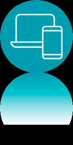 Icono usabilidad UX. DAM. Desarrollo aplicaciones multiplataforma