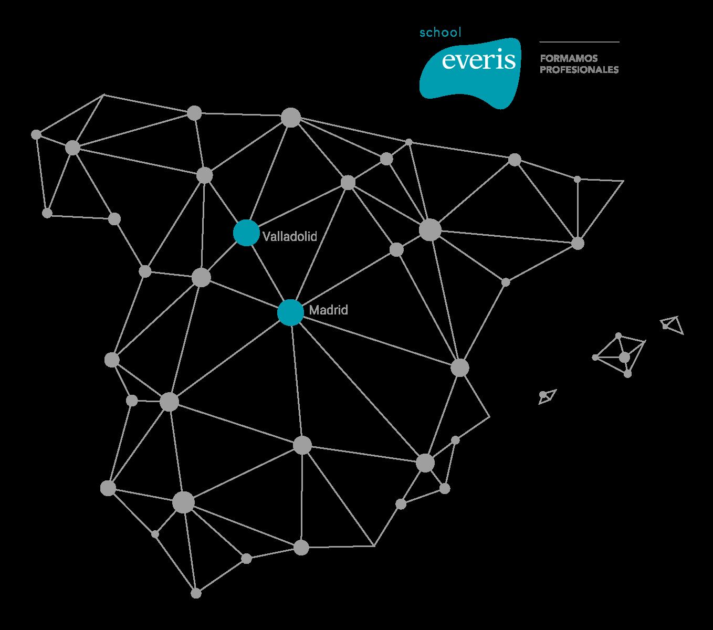 Desarrollo aplicaciones multiplataforma - mapa de centros